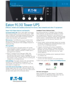 Eaton 9130 Tower UPS - EC Power